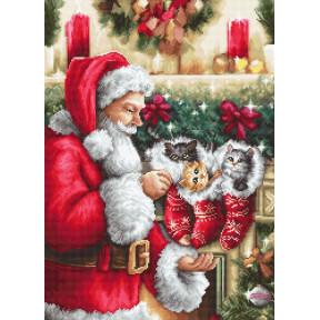 """Набор для вышивки крестом Luca-S  """"Дед Мороз"""" B602"""