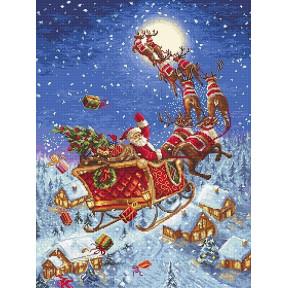 Набор для вышивания LETISTITCH The reindeers on its way!  LETI 958