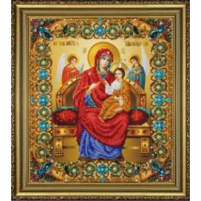 Набор для вышивания бисером Картины Бисером Икона Божьей Матери Всецарица  Р-415