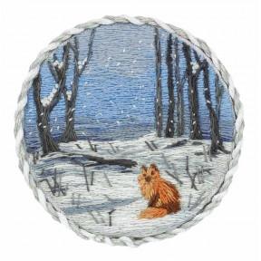"""Набор для вышивки крестом Panna """"Брошь. Зимний лес"""" ЖК-2192 фото"""