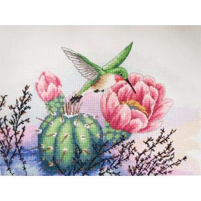Набор для вышивания крестом Classic Design Колибри и кактус