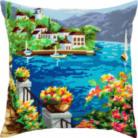 Набор для вышивки подушки Чарівниця Корфу V-309 фото