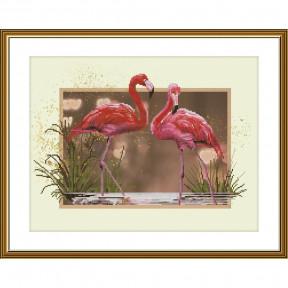 """Набор для вышивания крестом Новая Слобода """"Фламинго"""" СВ4507"""