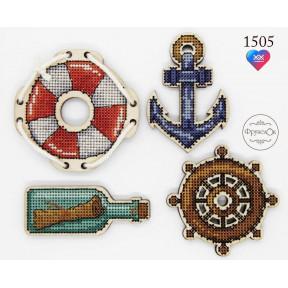 """Набор для вышивки крестом на деревянной основе ФрузелОк """"Морское  путешествие"""" 1505"""