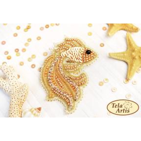 """Набор для вышивания бисером Tela Artis """"Золотая рыбка"""" Б-010"""