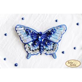 """Набор для вышивания бисером Tela Artis """"Синяя бабочка"""" Б-209"""