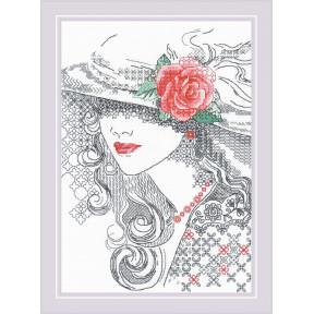 """Набор для вышивки крестом Риолис """"Таинственная Роза"""" 1887"""