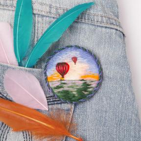 Набор для вышивки Panna Брошь. Воздушные шары ЖК-2185 фото