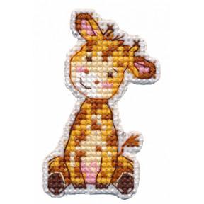 """Набор для вышивки крестом Овен """" Значок-жираф"""" 1320о"""