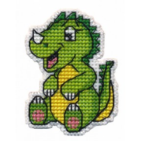 """Набор для вышивки крестом Овен """" Значок-динозаврик"""" 1321о"""