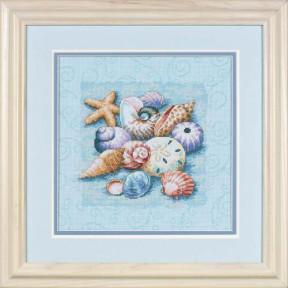 Набор для вышивания Dimensions 13725 Shells on Blue
