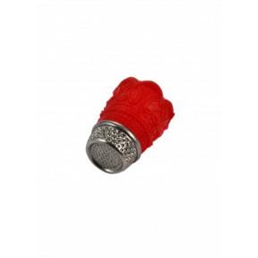 Наперсток силикон+метал Красный (Размер:M) (Франция) 91732