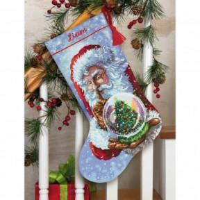 "Набор для вышивания крестом ""Santa's Snow Globe//Снежный шар Санты"" DIMENSIONS 70-08985"