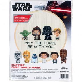 """Набор для вышивания крестом """"Star Wars Family//Семья Звездные войны"""" DIMENSIONS 72-76143"""