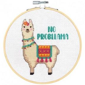 """Набор для вышивания крестом """"No Probllama//Нет проблАмы"""" DIMENSIONS 72-76111"""