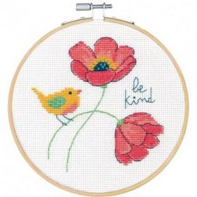 "Набор для вышивания крестом ""Be Kind//Будь добрим"" DIMENSIONS 72-75979"