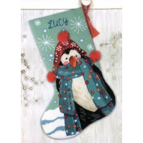 "Набор для вышивания гобеленом ""Fuzzy Penguin//Пінгвін"" DIMENSIONS 71-09160"