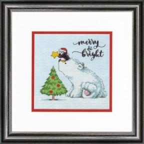 "Набор для вышивания крестом ""Merry & Bright//Веселый і яркий"" DIMENSIONS 70-08990"