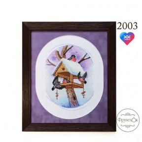 """Набор для вышивки крестом  ФрузелОк """"Снегири"""" 2003"""