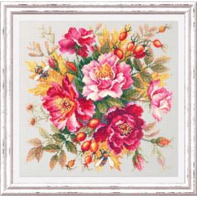 Набор для вышивки крестом Чудесная игла Магия цветов. Шиповник