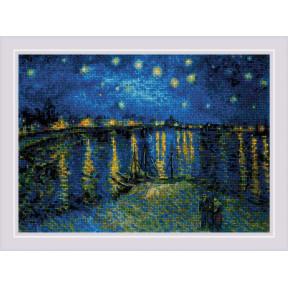 """Набор для вышивания крестом Риолис  """"Звездная ночь"""" 1884"""