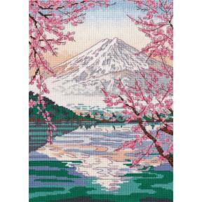 Набор для вышивки крестом Овен Фудзияма и озеро Кавагути 1311о