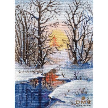 Набор для вышивки крестом Овен Зимний ручей 1334о