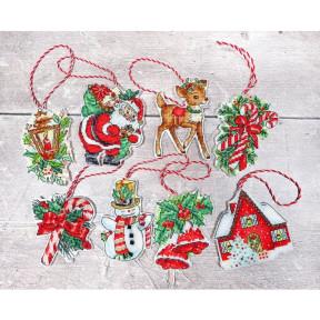 """Набор для вышивания LETISTITCH """"Набор новогодних игрушек №1"""" LETI 966"""