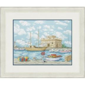 Набор для вышивания крестиком OLanTa  Замок у моря 2  VN-161