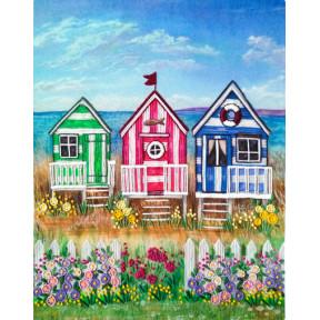 Набор для вышивания лентами Марічка Пляжные домики НКШ-4018 фото