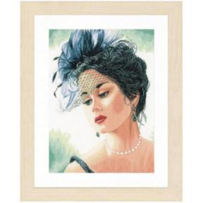 """Набор для вышивания Lanarte Lady in a Hat """"Леди в шляпке"""" PN-0156943"""