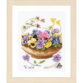 """Набор для вышивания Lanarte Violets """"Фиалки"""" PN-0168600"""