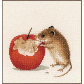 """Набор для вышивания Lanarte """"Мышка с яблоком"""" PN-0175633"""