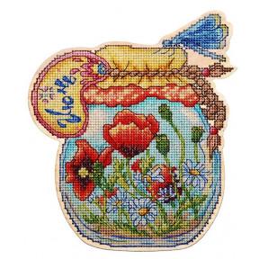 Набор для вышивки крестом Alisena Баночка – Июнь 5560а фото