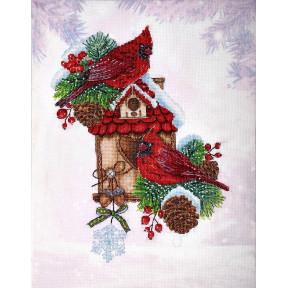 Набор для вышивки крестом Alisena Кардиналы 1288а фото