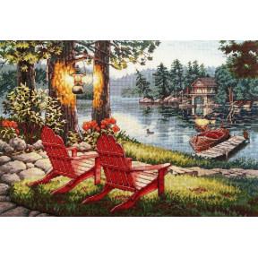 """Набор для вышивания крестом Classic Design """"Отдых на озере"""""""