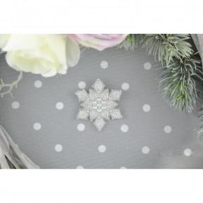 """Набор для вышивания бисером Tela Artis """"Снежинка"""" Б-206 фото"""