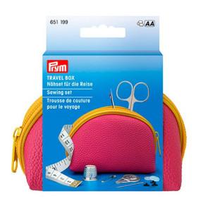 Бокс-косметичка для шитья для путешествий, розовый Prym 651199