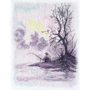 Набор для вышивания крестом Марічка Утро на озере НКА-019 фото