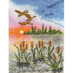 Набор для вышивания крестом Марічка Летний закат НКА-017 фото