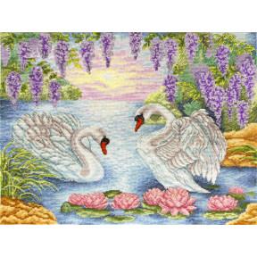 Набор для вышивания крестом Марічка Пара лебедей НКА-016 фото