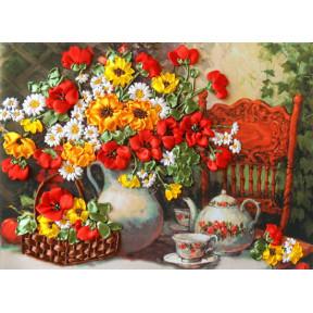 "Набор для вышивания лентами Марічка ""Душистый чай"" НЛ-3072 фото"