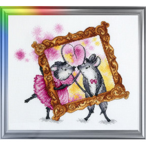 Набор для вышивания ЛанСвіт «Мимимышки: День влюбленных» Д-060
