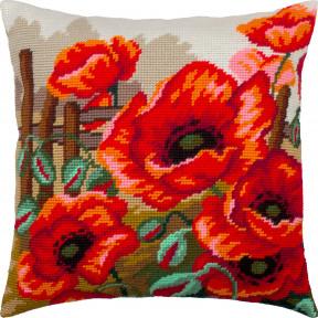 Набор для вышивки подушки Чарівниця Маки V-308 фото