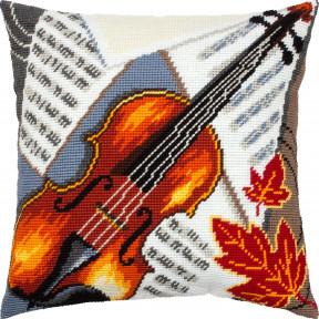 Набор для вышивки подушки Чарівниця Скрипка V-319 фото