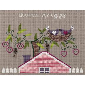 """Набор для вышивки крестом Panna """"Родное гнездышко"""" CE-7056 фото"""