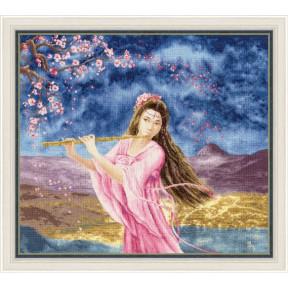 Набор для вышивки Золотое Руно Девушка с флейтой МГ-023 фото