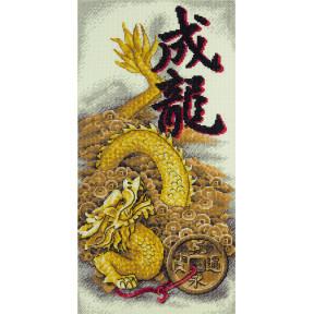 Набор для вышивки крестом Panna Золотой дракон И-1938 фото