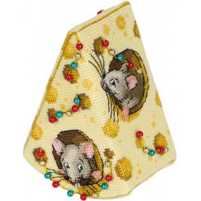 Набор для вышивки крестом Panna Сыр для мышек ИГ-7168 фото