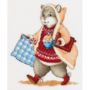Набор для вышивки крестом Panna Хомяк с какао Ж-7138 фото
